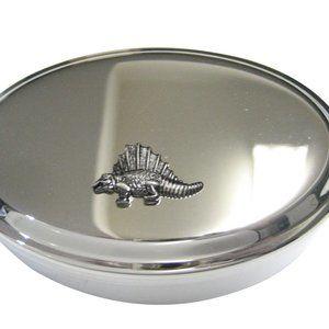 Textured Dinosaur Oval Trinket Jewelry Box
